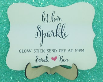 Wedding sign for Sparklers, Custom and Personalised