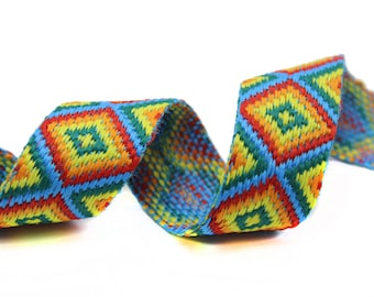 Ethnic Knitted African Indian Knitted Aztec Ribbon Trim 2 YARDS