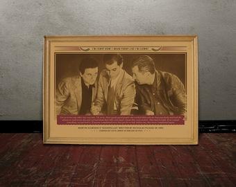 Scorsese, GOODFELLAS, Monochrome retro classic movie poster