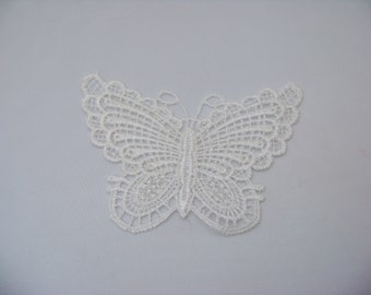 White rayon Butterfly Applique/3501
