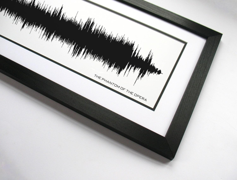 Broadway Theme The Phantom of the Opera Sound Wave Art