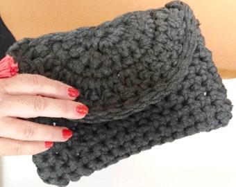 LUXE BOHO Modern Crochet Wristlet/Clutch