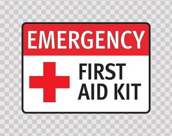 Stickers Sticker Emergency First Aid Kit Safety sign 80109
