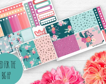 BIG Happy Planner Planner Stickers - Weekly Planner Sticker Set - Happy Planner  - Functional stickers - Winter Blooms - Floral Stickers
