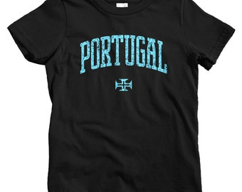 Kids Portugal T-shirt - Baby, Toddler, and Youth Sizes - Portuguese Tee, Lisbon, Porto, Braga, Algarve - 4 Colors