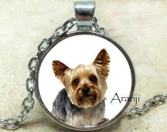 Yorkie  art pendant, Yorkie necklace, puppy pendant, dog pendant, Yorkshire terrier necklace, Yorkie pendant, dog necklace, Pendant #AN140P