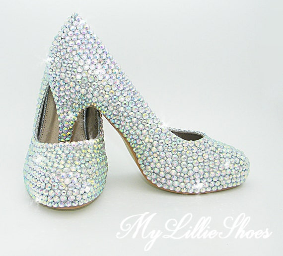 gift Low Prom Pageant year ~ Rhinestone Crystal bride Maid Graduation the Shoes new of Mother Bridesmaid for ~ of Heels her Honor qwHnBtx07