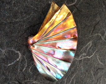 "Silver Origami Butterfly Brooch ""Minuette"", number six in Concerto Series, OOAK"