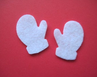 FELT MITTENS -- Die Cut. Perfect to decorate for Winter crafts and Christmas decor. Use for paper crafts, hair bows, etc.