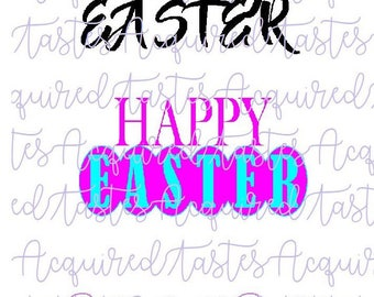 Happy Easter Bundle 3 SVGs Included