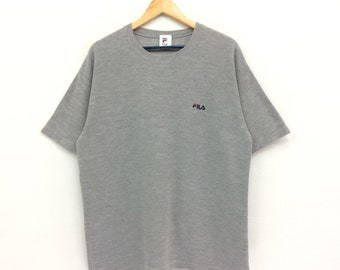Rare!! Fila T-shirt Small Logo Embroidery Nice