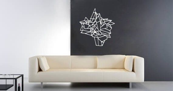 Items Similar To Hand Drawn Geometric Ball Wall Decal On Etsy