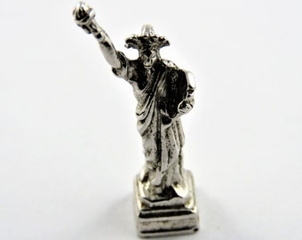 Statue of Liberty Sterling Silver Charm or Pendant.