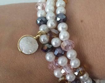 Pearl Set - Pearl, Gold, Baby Pink, Lavender, and Topaz