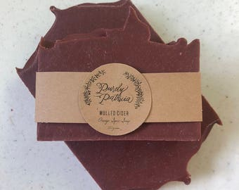 SOLD OUT Mulled Cider | Orange, Benzoin, Cinnamon & Nutmeg Soap | Purely Patricia | Handmade | All Natural | Vegan