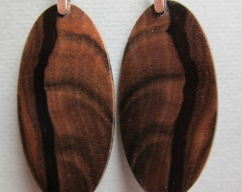 GORGEOUS Black Ebony Exotic Wood Earrings, Handcrafted by ExoticWoodJewelryAnd Hypoallergenic wires