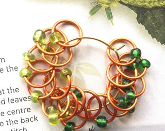 20 Knitting stitch marker rings Copper