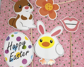 Easter Party Photo Booth Props, Easter, Easter Party, Photo Booth Prop, Party Props, Easter Decorations, Easter Rabbit,  Photo Both