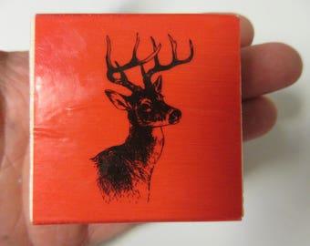 Deer Rubber Stamp-Christmas Stamps-Deer Head Stamp