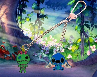 Disney Lilo & Stitch key chain/keyring with Stitch and Scrump  Free UK Postage!
