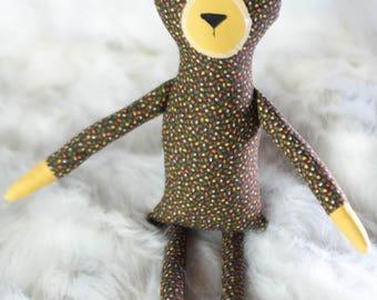 Luk the Plush Bear // READY TO SHIP // stuffed bear plushie, teddy bear softie, stuffed animal bear, handmade teddy bear