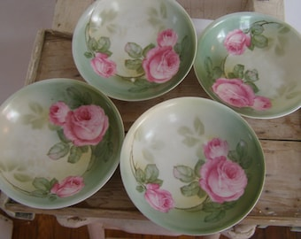 Luscious German Dessert Bowls With Roses/SALE!