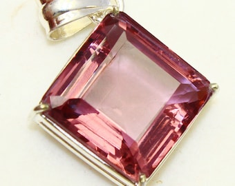 61.50Ct Certified Fantastic Alexandrite Pendant 925 Solid Sterling Silver AQ297
