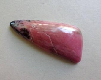 Rhodonite designer cabochon 34x14 mm