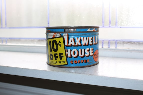 Vintage Kitchen Tin Maxwell House Coffee 1950s