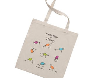 Pilates Cotton Tote Bag