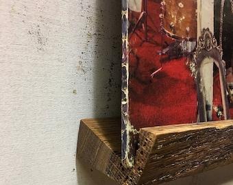 Live Edge Red Oak Vinyl Record Shelf
