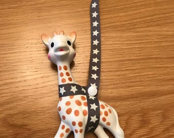 Sophie The Giraffe Harness - Teething Toy Saver - Sophie Giraffe Strap - Sophie Strap - Baby Shower - Baby gifts - Sophie Saver Strap - Baby