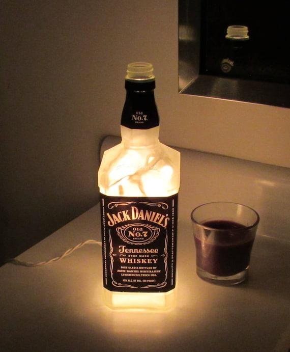 Frosted Jack Daniels Bottle Lamp