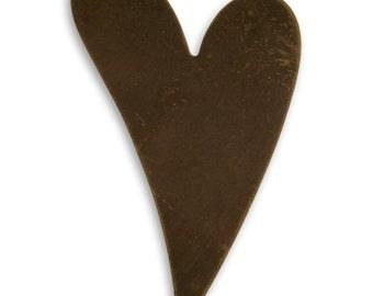 4 pieces Brass Heart Blank, Vintaj Natural Brass, Altered art blank, Vintaj Item P0523