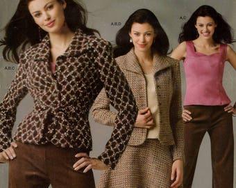 FREE US SHIP Simplicity 4500 Threads Magazine  Suit Jacket Skirt Blouse Pants Size 12 14 16 18 20 Bust 34-42 Uncut Sewing Pattern