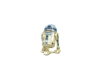 PRINT of watercolor miniature painting. R2-D2