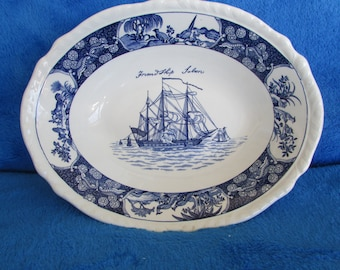 Rare Wedgwood Friendship Salem blue Coupe Cereal Bowl