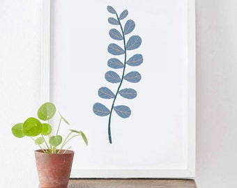 Leaf Wall Art, Botanical Print, CUTE Greenery Print, Modern art, Modern Minimal , Scandinavian Decor, Art Prints, Wall Art, Tropical Leaf