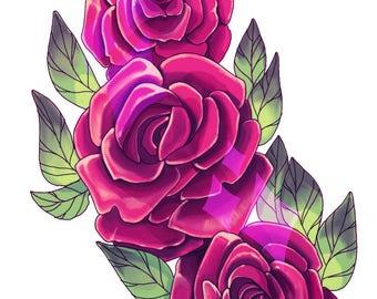 Triad of Roses Handcut Sticker