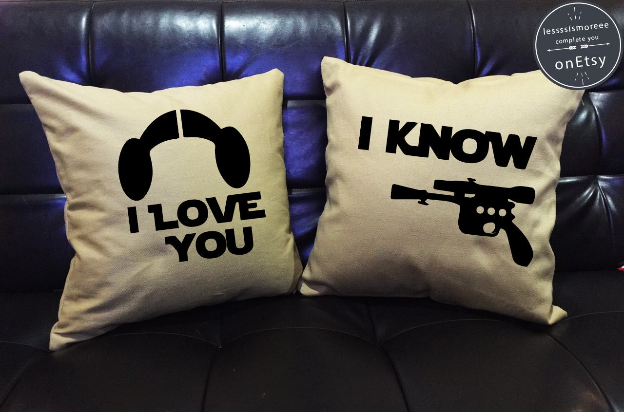 SALE I Love You Know Star Wars Pillow Cover Setlove