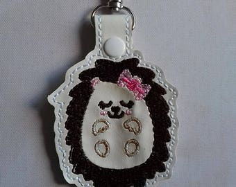 Little sleeping hedgehog, Mother's Day gift, Birthday gift, Hedgehog Rescue Charity, key chain, UK