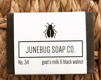 3 PACK: Goat Milk & Black Walnut Bar Soap - Goat Milk Soap, Natural Soap, Homemade Soap, Scrub Soap, Handmade Soap, Exfoliating Soap