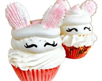 Honey-licious Bunny Cupcake Bath Bomb