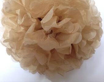 Beige-Golden Beige-Tan-DIY Tissue Paper- PomPom