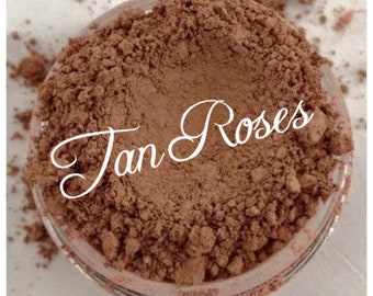 TAN ROSES Organic Mineral FOUNDATION Beauty Cosmetics Vegan Gluten Free