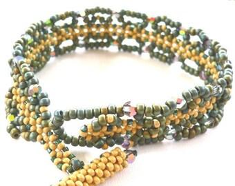 Byzantine Christmas Lace beaded bracelet Tutorial: Instant Downloadable Pattern PDF File