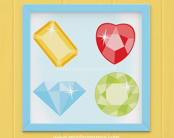 Clipart - Gems and Jewels / Gemstones / Diamond clipart,  jewels and gems, Gemstone clipart, diamonds, jewels clipart, jewelry clipart
