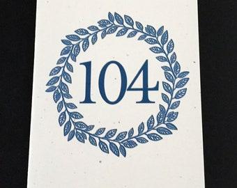 Masculine 104th Birthday Card, Laurel Wreath Birthday Card, Blue, Birthday Card for Dad, Card for Uncle, Card for Grandfather