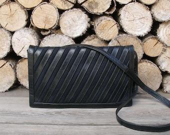 vintage leather purse-women leather bag-black shoulder bag-mini boho bag-small leather bag-leather purse-leather shoulder bag