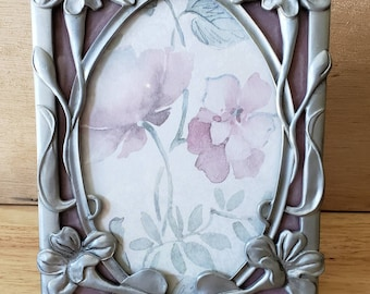 Beautiful Pewter Photo Frame by Seagull. Pewter Picture Frame,